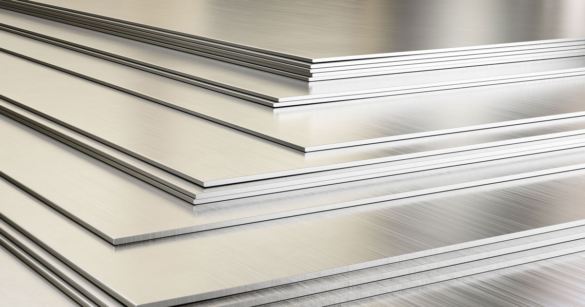 stainless steel and aluminum
